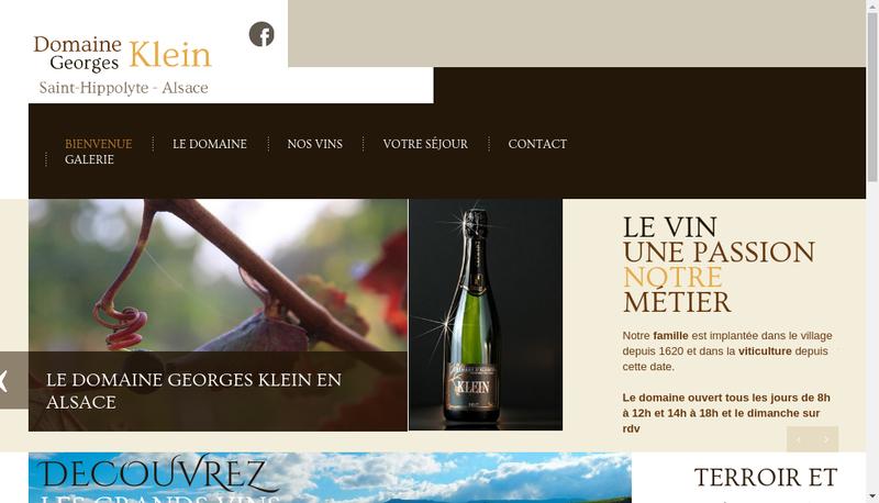 Capture d'écran du site de EARL Klein Georges et Fils