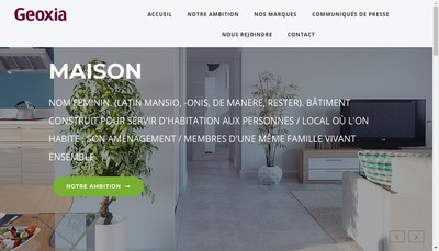Site internet de Maisons C Mamet Espr Bois-Mais Aura-Mais
