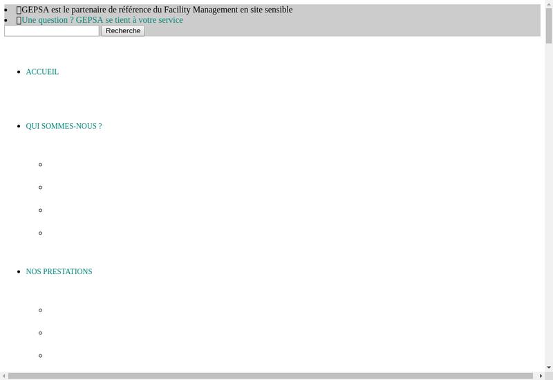 Capture d'écran du site de Gepsa Cofely