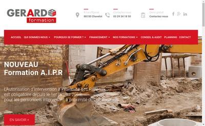 Site internet de Gerard Formation