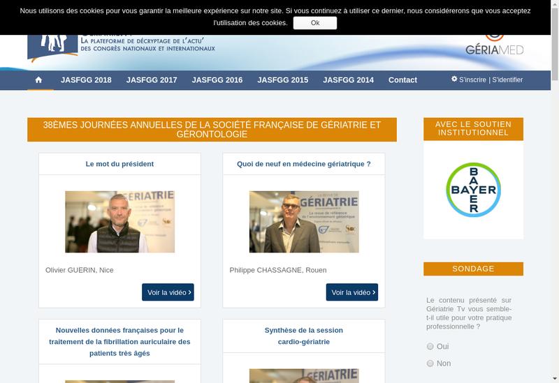 Capture d'écran du site de La Revue de Geriatrie et Rachis