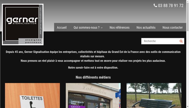 Capture d'écran du site de Gerner
