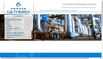 Site internet de Getherm