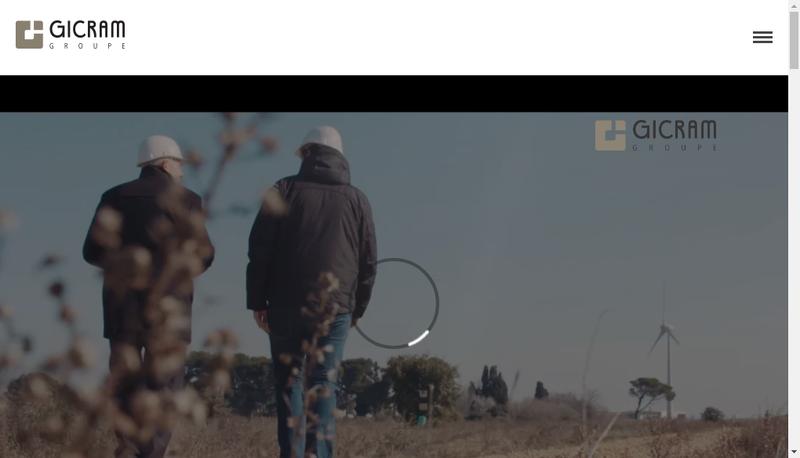 Capture d'écran du site de Gicram Groupe
