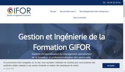 Site internet de Gifor Service -Gifor Formation