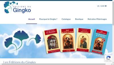 Site internet de Editions du Gingko