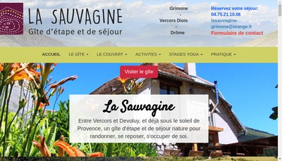 Site internet de La Sauvagine