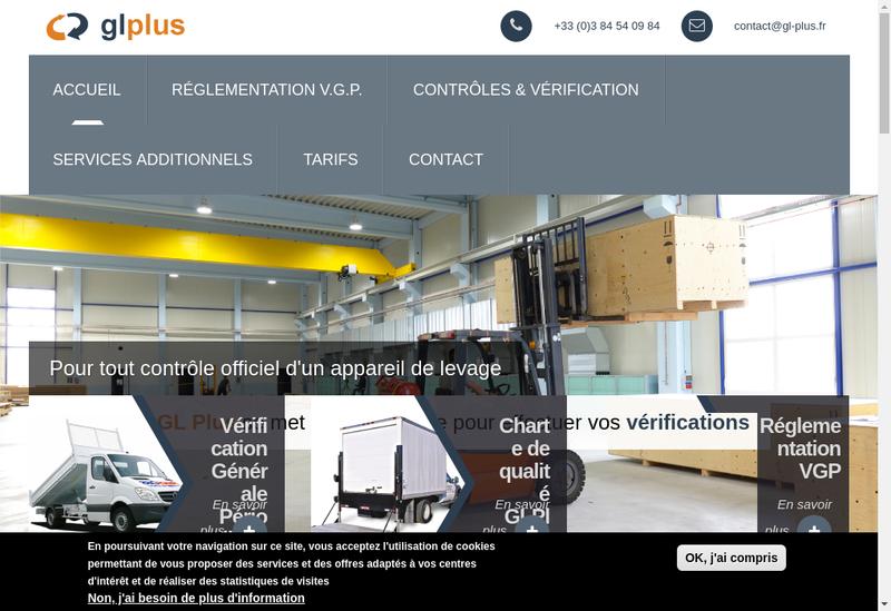 Capture d'écran du site de Gl Plus