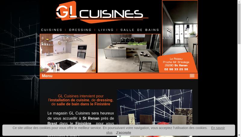Capture d'écran du site de Gl Cuisines
