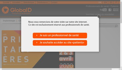 Site internet de Global D