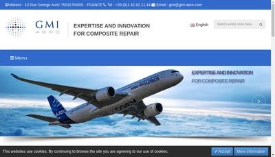 Site internet de Gmi Aero