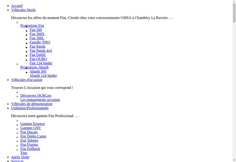 Capture d'écran du site de GMSA