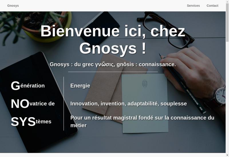 Capture d'écran du site de Gnosys