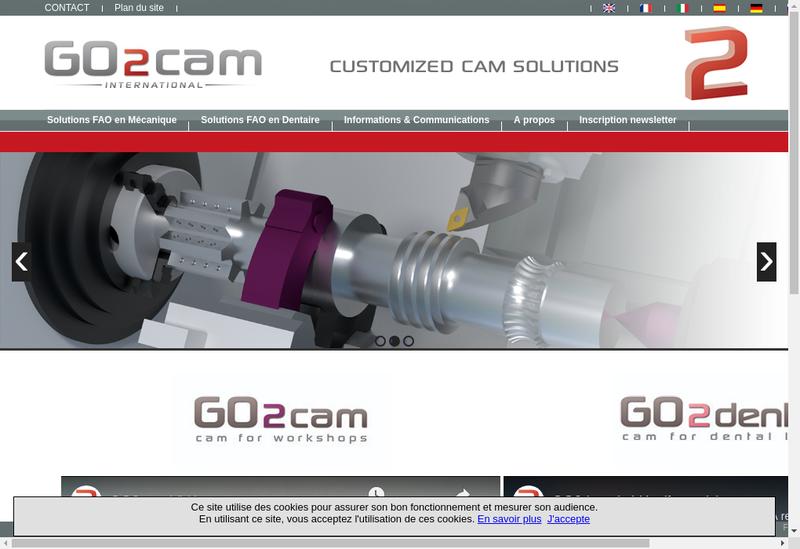 Capture d'écran du site de Go2Cam France