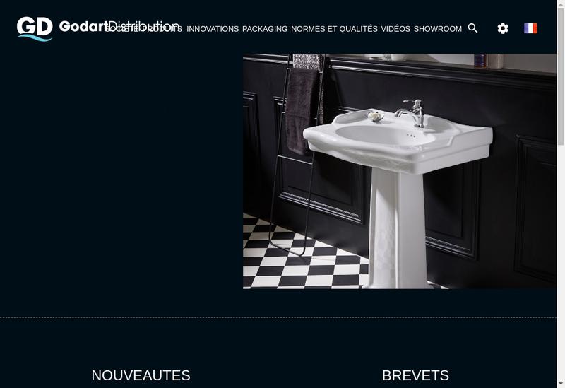 Capture d'écran du site de Godart Distribution