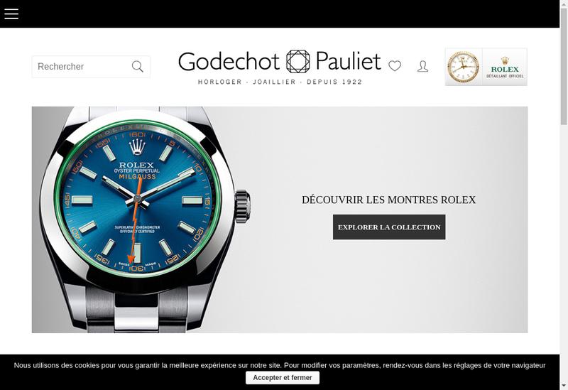 Capture d'écran du site de Godechot Pauliet