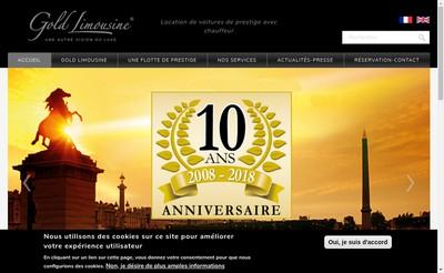 Site internet de Gold Limousine
