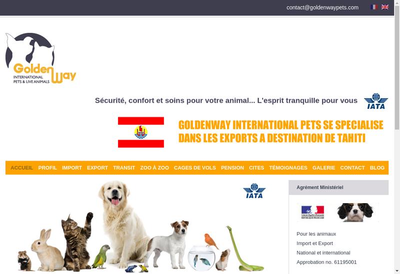 Capture d'écran du site de Chenil les Mille Calins - Goldenway