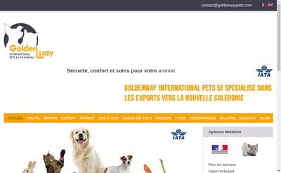 Site internet de Chenil les Mille Calins - Goldenway
