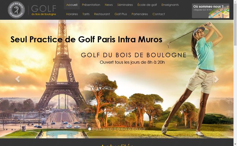 Capture d'écran du site de Golf du Bois de Boulogne