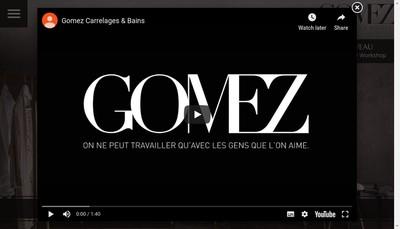 Site internet de Gomez Carrelages et Bains