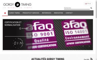 Site internet de Gorgy Timing