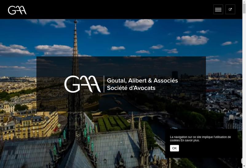 Capture d'écran du site de Goutal Alibert & Associes