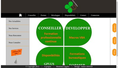Site internet de Gplus Formation