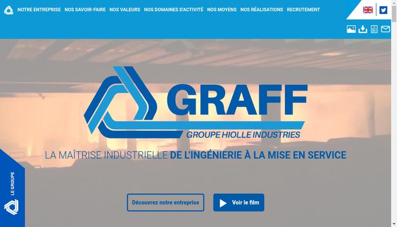 Capture d'écran du site de Graff