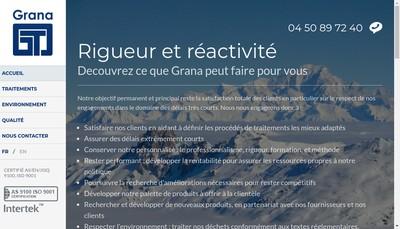 Site internet de Grana Tribofinition