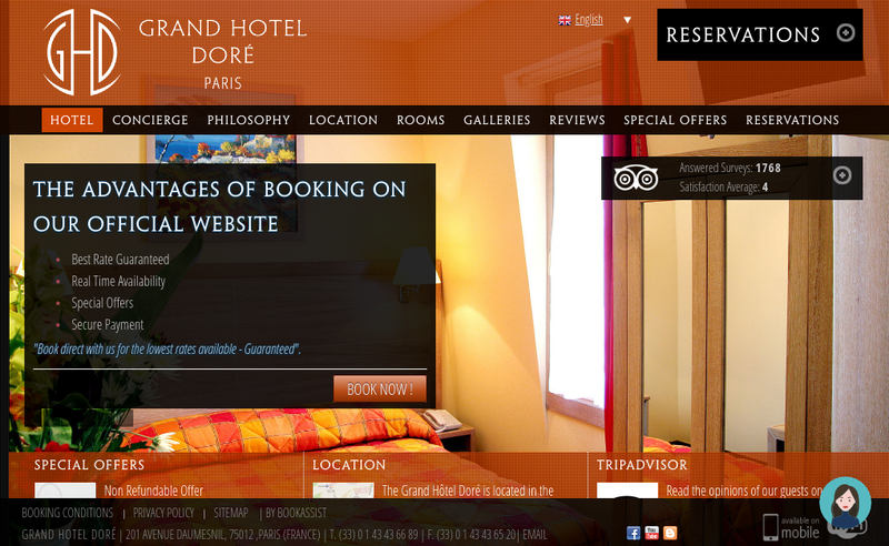 Capture d'écran du site de Grand Hotel Dore