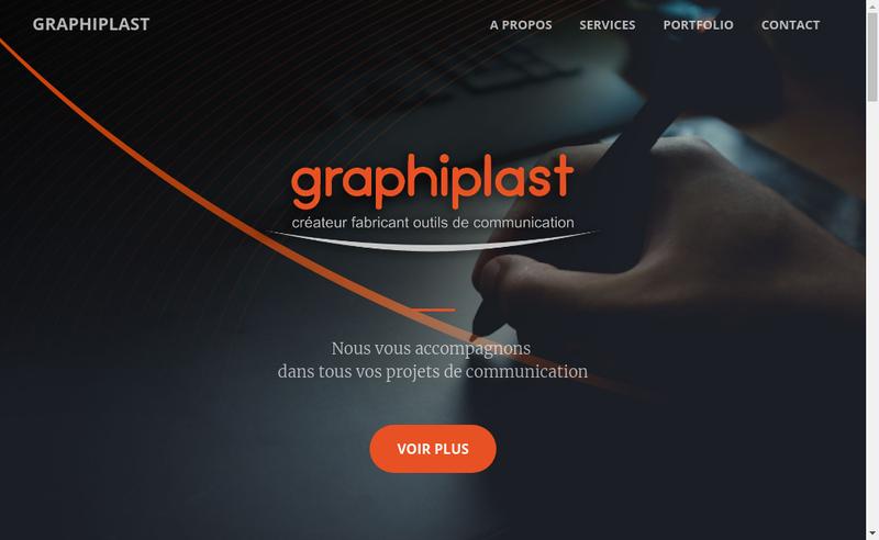 Capture d'écran du site de Graphiplast