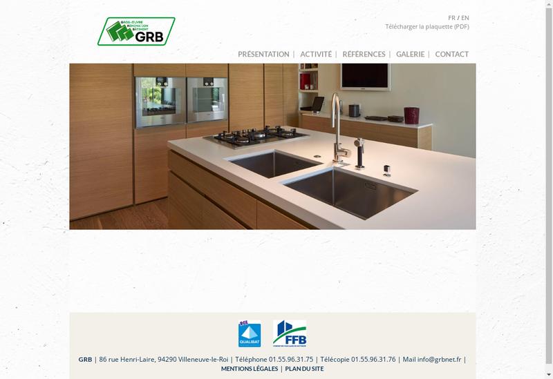 Capture d'écran du site de GRB