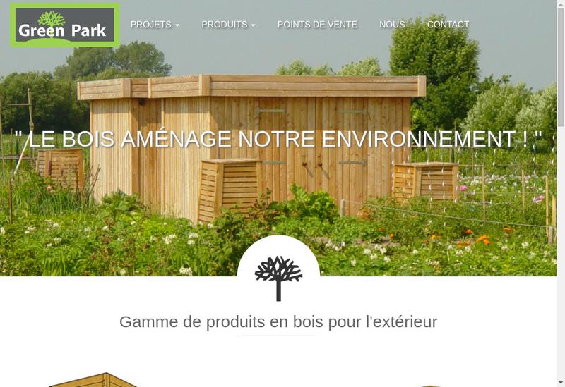 Capture d'écran du site de Green Park