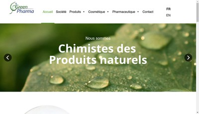 Site internet de Greenpharma