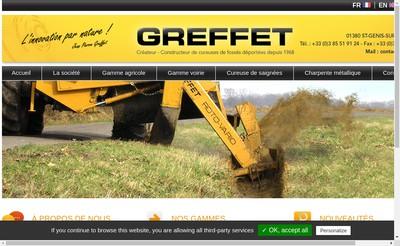 Site internet de Greffet SAS