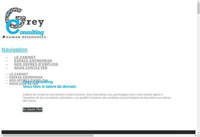 Site internet de Grey Consulting