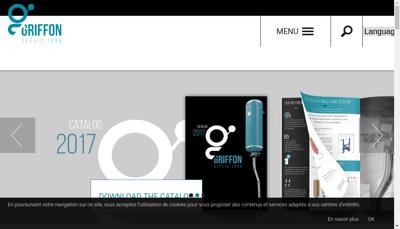 Capture d'écran du site de Griffon SA