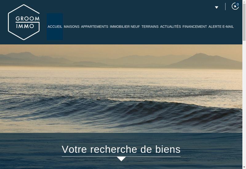 Capture d'écran du site de Auditia Finances - Groom Immo