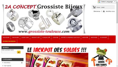 Site internet de Le Grossiste Bijoux