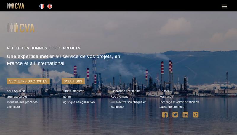 Capture d'écran du site de Cva Europe Holding