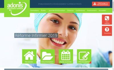 Site internet de Adonis Gen Formation Prepaconcours