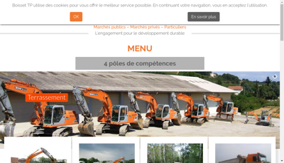 Capture d'écran du site de Boisset TP