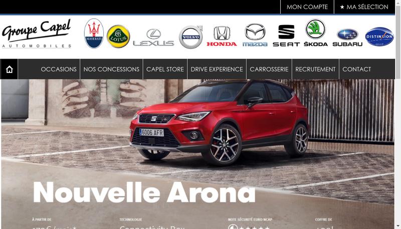 Capture d'écran du site de Groupe Capel