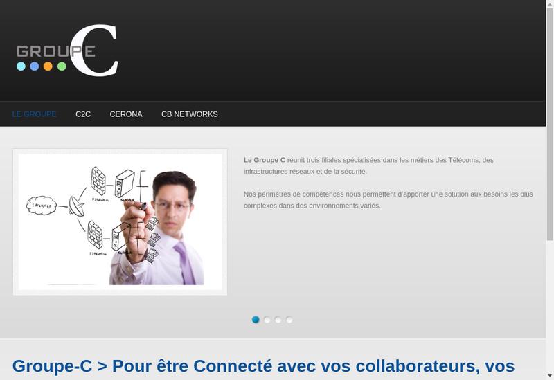 Capture d'écran du site de Groupe C