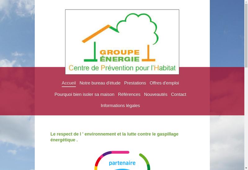 Capture d'écran du site de Controle Technique Habitat Normandie