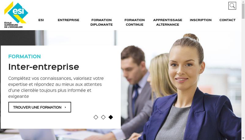 Capture d'écran du site de Esi Business Executive