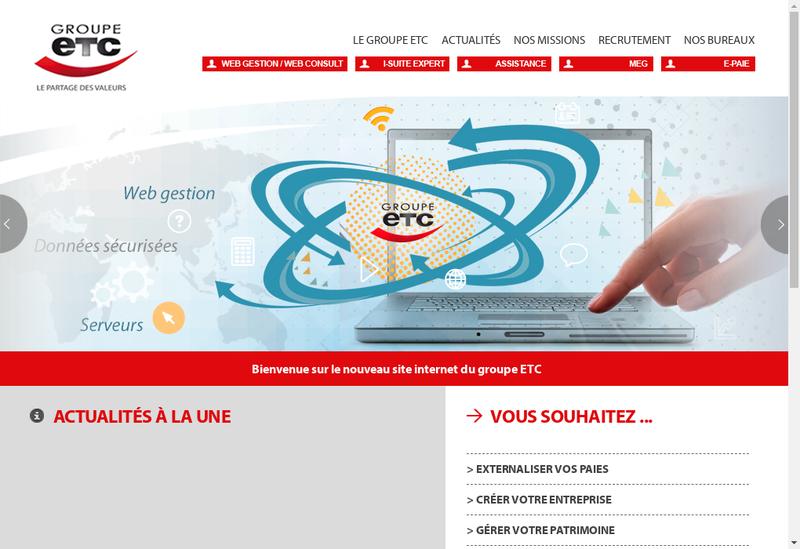 Capture d'écran du site de Expertise et Technique Comptables