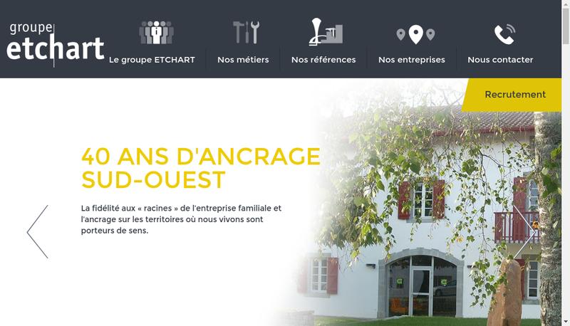 Capture d'écran du site de Entreprise Dubreuilh