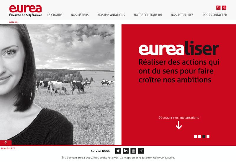 Capture d'écran du site de Sica Eurea Coop